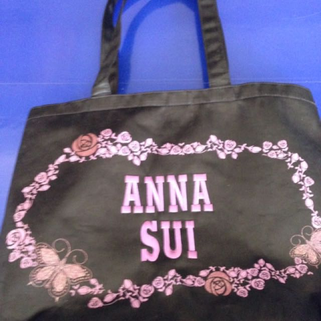 Original Anna Sui Satin Tote Bag Not Coach Spade Dooney Lacoste Kipling