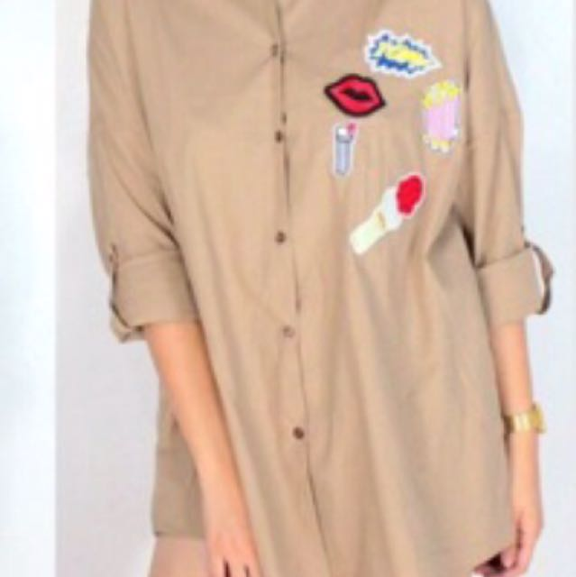 Oversized Polo With Patch