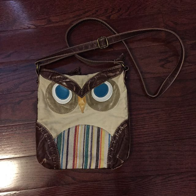 Owl Over The Shoulder Purse