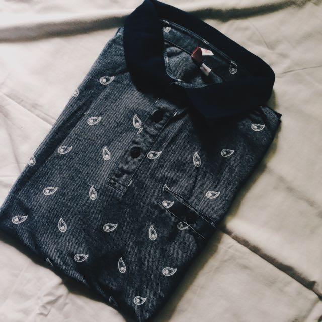 Penshoppe Button Up Polo Shirt