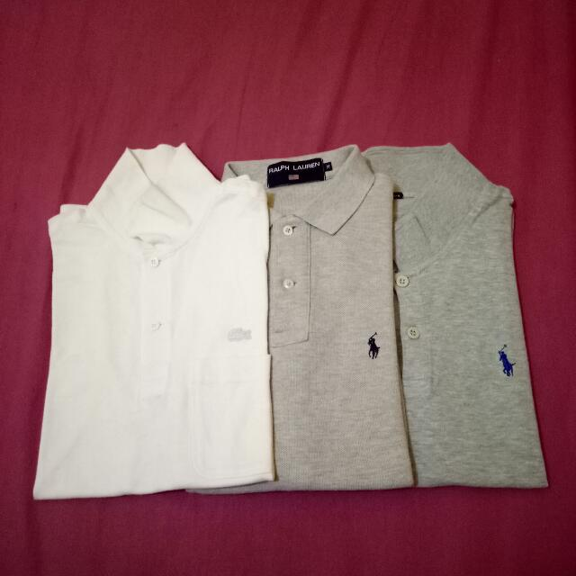 (SEPAKET 180rb) polo shirt lacoste , polo ralph lauren , second murah
