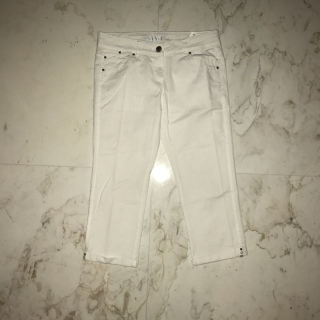PROMOD White 3/4 Pants