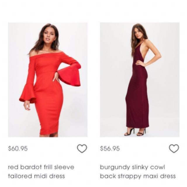 Red Bardot Frill Sleeve Tailored Midi Dress