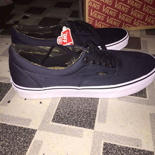 RUSH! Authentic Vans Era (Vintage Camo) Dark Navy Blue e35c99610