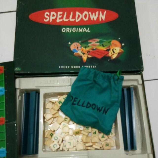 SCRABBLE SPELLDOWN ORIGINAL ORI YA