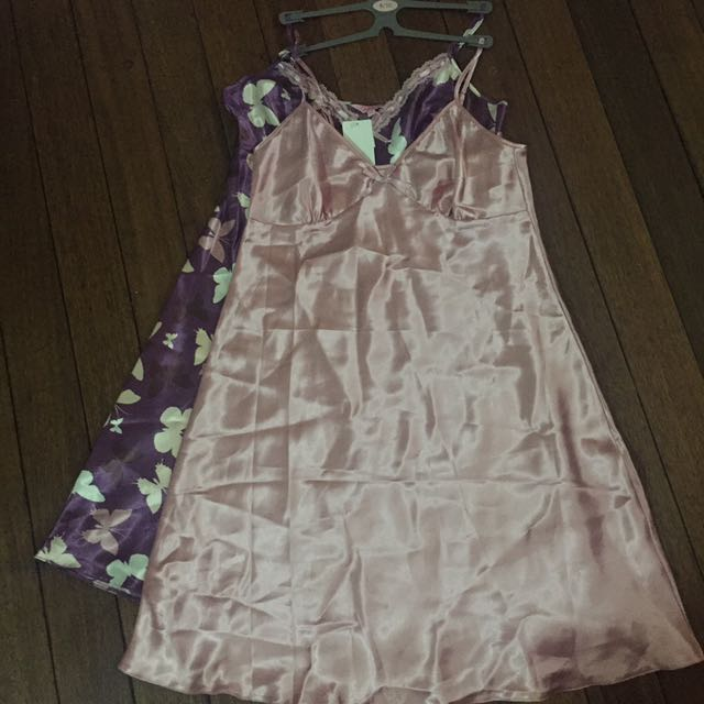 Silk Night Gown Sold As a Set