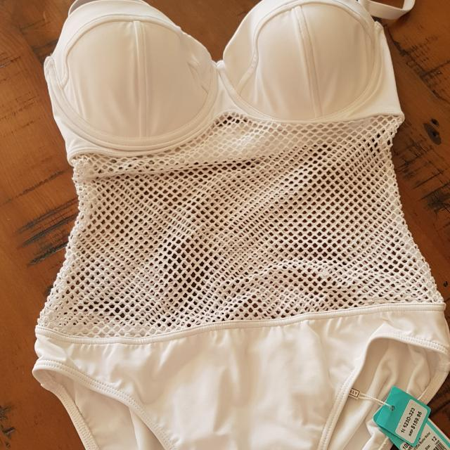 Size 12 Seafolly Net effect D Cup Swimsuit