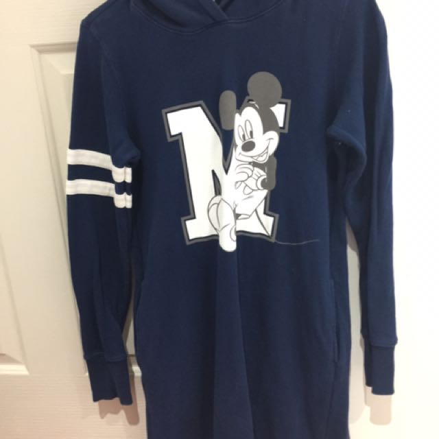 Size M Uniqlo Mickey Mouse Hoodie Dress