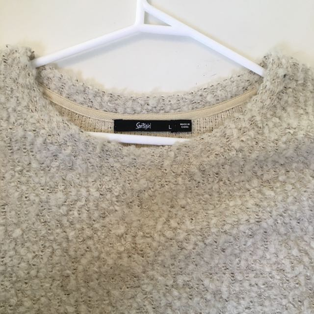SPORTSGIRL Cream Speckled Fluffy Jumper