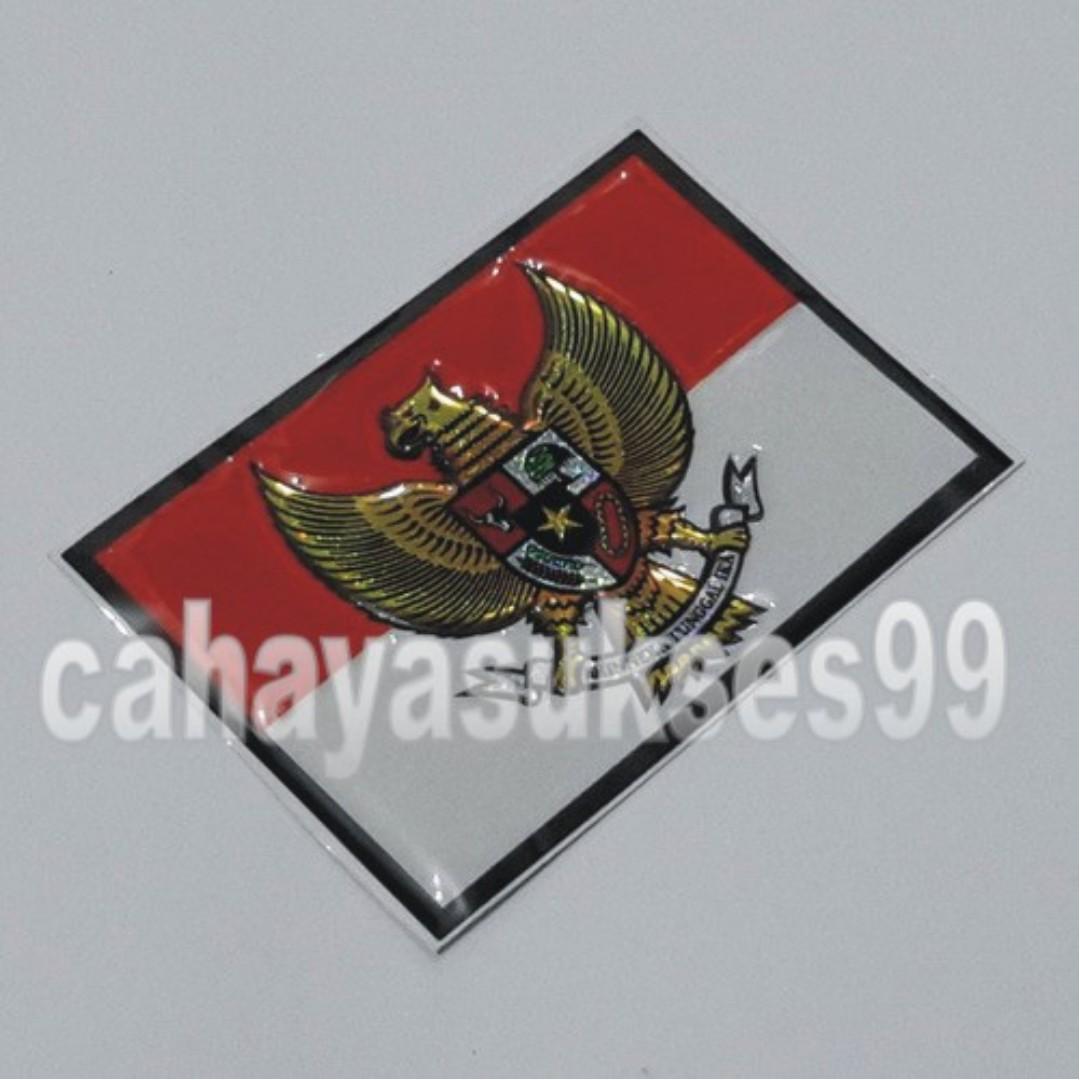 Sticker Mobil Timbul Bendera Merah Putih Garuda Indonesia Model Segi Empat New Dimensi 8 5cm X 6cm Aksesoris Mobil Di Carousell