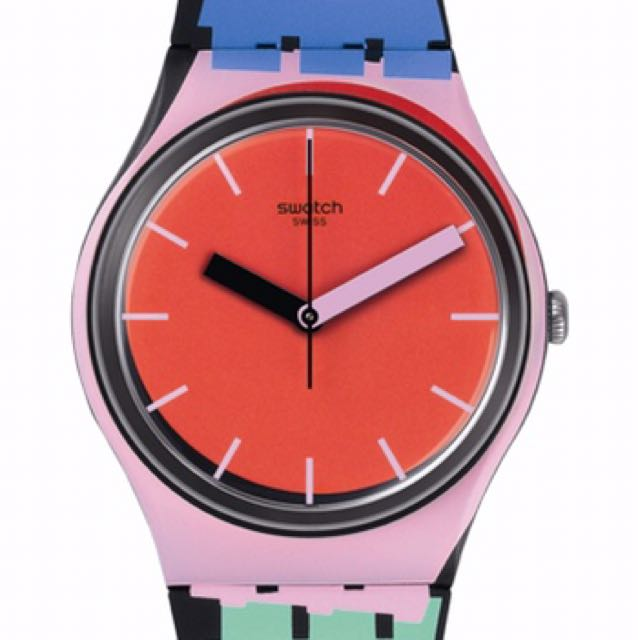 Swatch GB286 A Cote Orange Pink Blue Green Watch