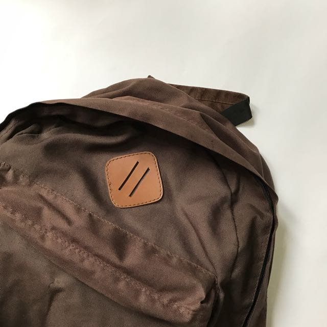 Tas Backpack Coklat Mid-Volume Mirip Herschel Heritage Backpack Mulus Murah