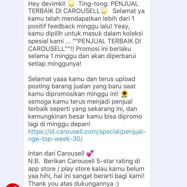 Thx Carousel 😀