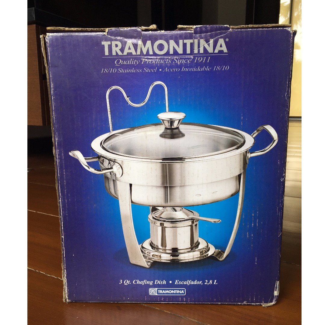 Tramontina 3 Qt. Stainless Steel Chafing Dish