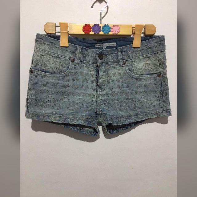 UMD Aztec Denim Shorts