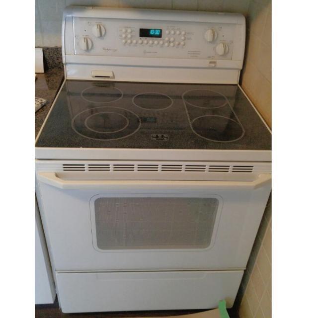 white electric stove oven