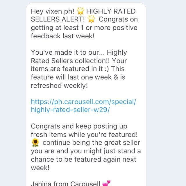 Yay! Thanks Carousel ☺️