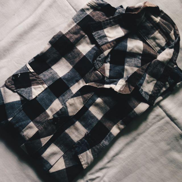 YRYS Checkered Button Down