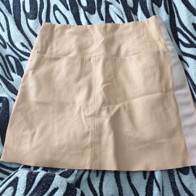Zara Leatherette Skirt XS