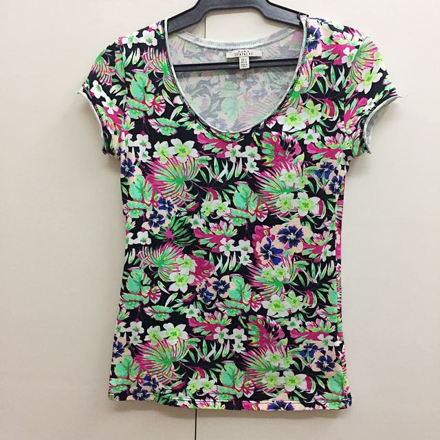 ZARA TRF tropical print T-shirt
