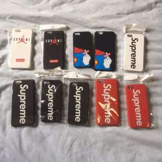Supreme cases and stickers