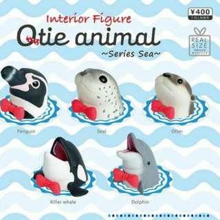 【扭蛋】 日版 全新 Qtie 海洋領結動物  動物頭像