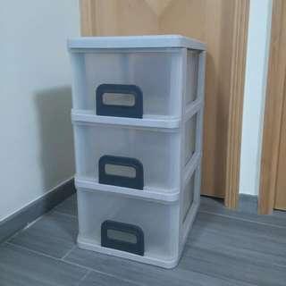 三層膠櫃桶