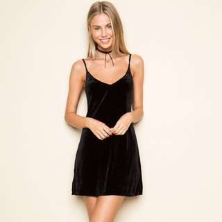 Brandy Melville Jackie Velvet Dress