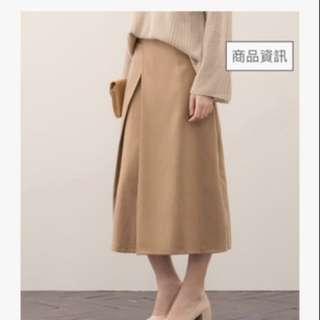 Meier.Q 知性交疊打褶設計長裙
