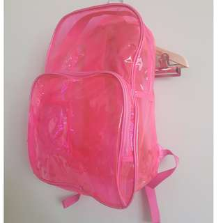 Big Clear Pink Backpack