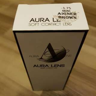 Contact Lense》Brand New AURALENS in Mini Aigner Brown -1.75