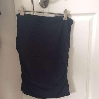 Kookai New Sz 2 Black Knee Length Skirt
