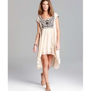 Free People Dress - Marina Embroidered Gauze