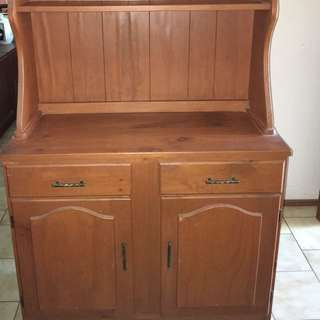 Wooden Hutch Cabinet