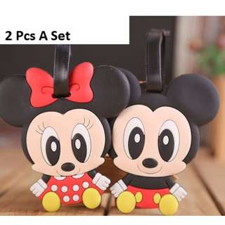 Mickey Mouse / Minnie Mouse Luggage Tag Holder / Namecard Holder (2 Pcs A Set)