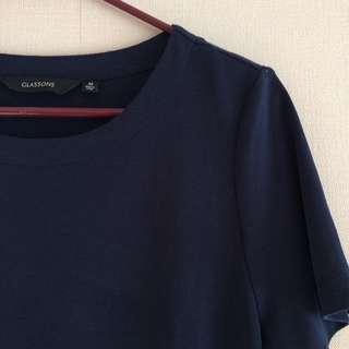 Navy T-shirt Dress - Glassons