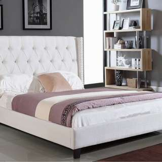 Brand New Fabric Queen Size Platform Bed