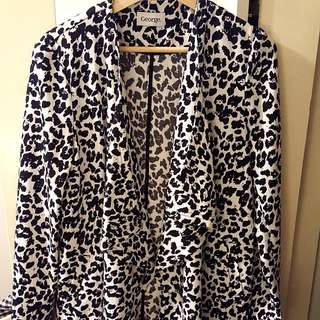 Unusual Leopard Print Jacket/Dress Piece Size 10