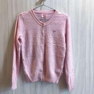 ☆scottish house粉色珍珠外套☆S號