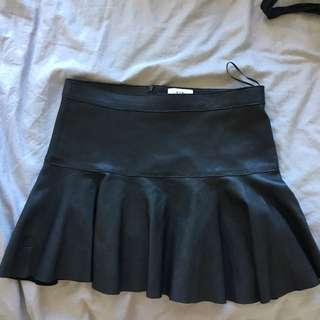 Sir The Label Black Leather skirt