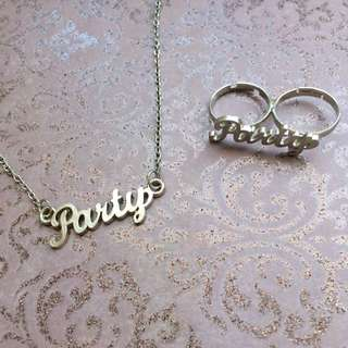 Party Necklace & Ring