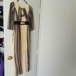 Black And Creme Dress