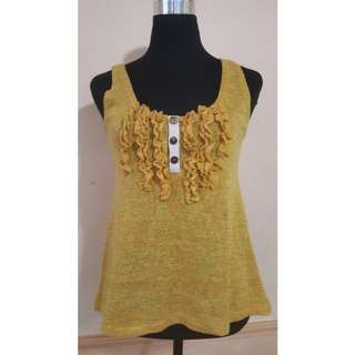 knitted yellow top