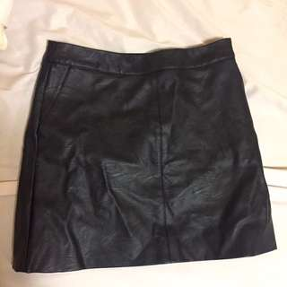 TOPSHOP leather Skirt sz-02