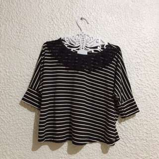 Stripes Top - Batwing
