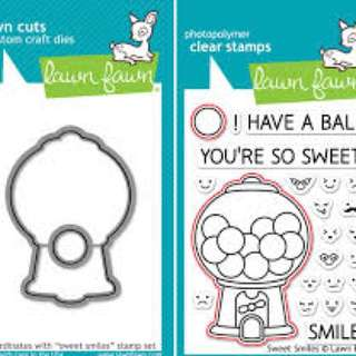 Lawn Fawn Sweet Smile Stamp And Die Set