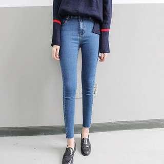 S-XL 3colors jeans black blue