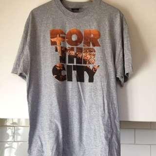 For The City Men's XL T Shirt Skate Brand