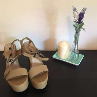 NEW Forever 21 Tan Wedge Heel