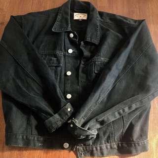 Vintage Sportsgirl Black Denim Jacket (M)